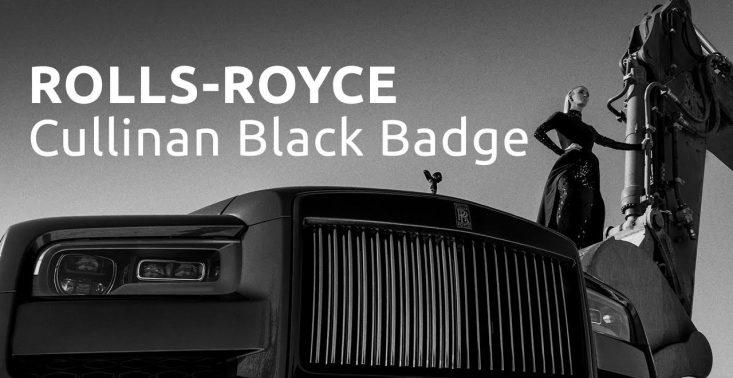 Szymon Brodziak w ekspresyjnym filmie uwiecznił piękno Rolls-Royce'a Cullinan Black Badge<