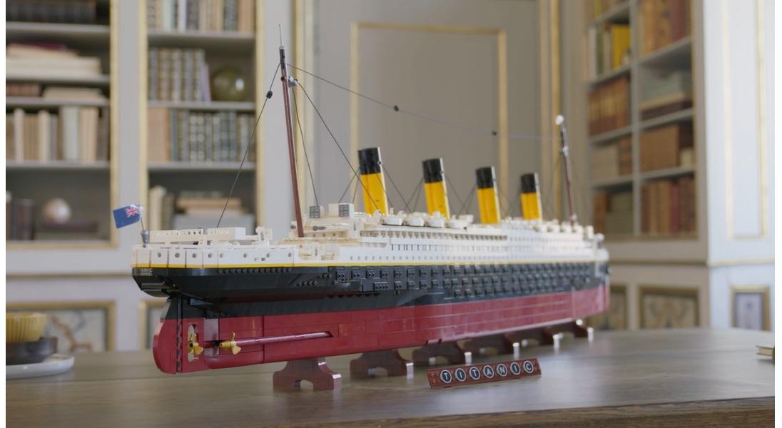 Największy model LEGO jest odzwierciedleniem Titanica