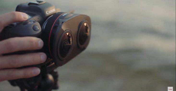 """Canon prezentuje podwójny obiektyw """"rybie oko"""", służący do tworzenia materiałów 3D VR<"""